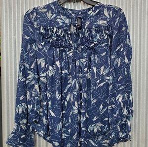 🆕️ Kaari blue  peasant  blouse
